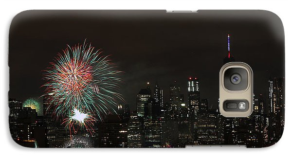 Galaxy Case featuring the photograph Macy's-july 4th 2015-fireworks-3 by Steven Spak