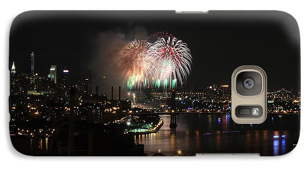 Galaxy Case featuring the photograph Macy's July 4th 2015 Fireworks-4 by Steven Spak