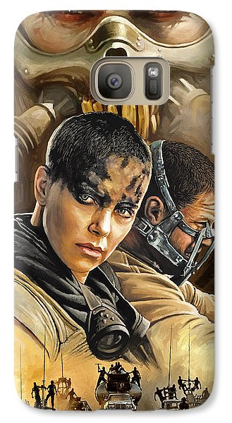 Galaxy Case featuring the painting Mad Max Fury Road Artwork by Sheraz A