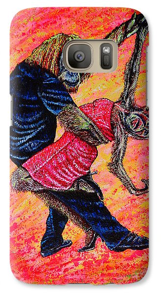 Galaxy Case featuring the painting Madame... by Viktor Lazarev