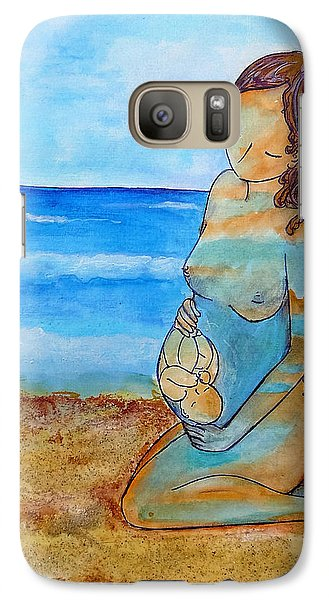 Galaxy Case featuring the painting Made Of Water by Gioia Albano