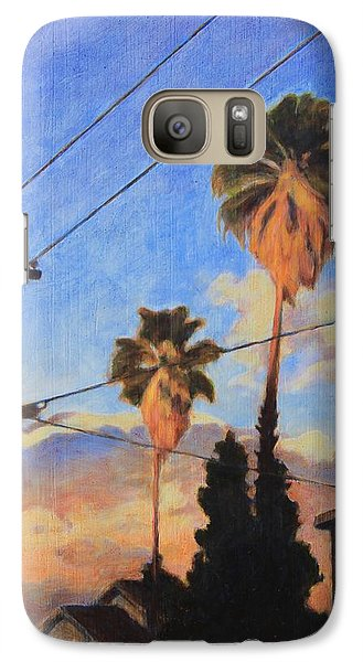 Galaxy Case featuring the painting Madison Ave Sunset by Andrew Danielsen