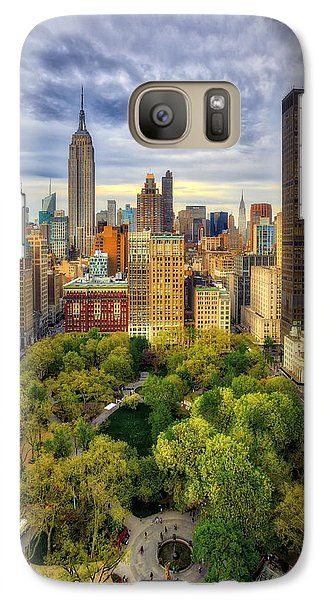 Madison Square Park Aerial View Galaxy Case by Susan Candelario