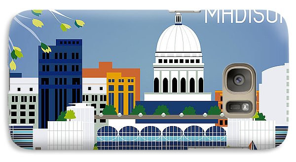 Madison Wisconsin Horizontal Skyline Galaxy S7 Case by Karen Young