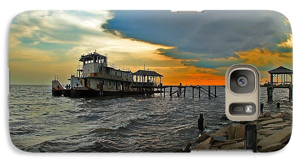 Galaxy Case featuring the photograph Madisonville Katrina Ghost Boat  by Luana K Perez