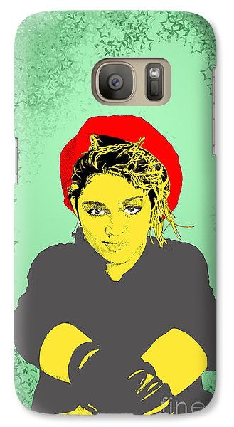 Galaxy Case featuring the drawing Madonna On Green by Jason Tricktop Matthews