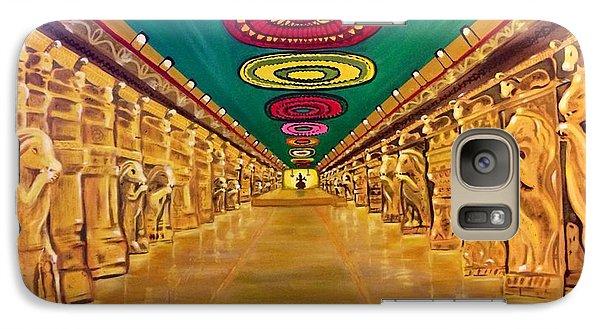 Galaxy Case featuring the painting Madurai Meenakshi Temple Mandapam by Brindha Naveen