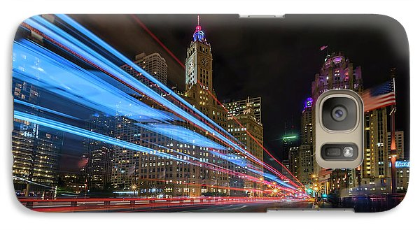 Galaxy Case featuring the photograph Mag Mile Warp Speed by Sean Foster