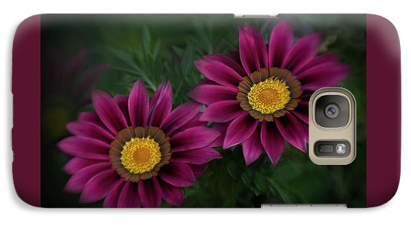 Galaxy Case featuring the photograph Magenta African Daisies by David and Carol Kelly