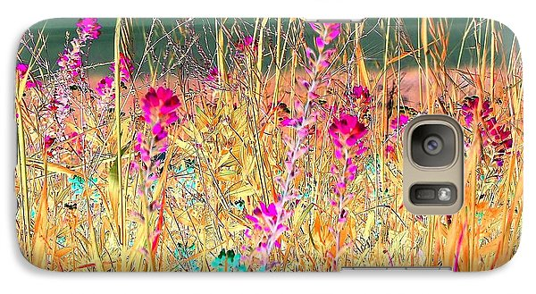 Galaxy Case featuring the photograph Magenta Bluebonnets by Ellen O'Reilly