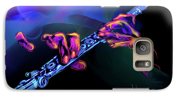 Galaxy Case featuring the painting Magic Flute by DC Langer