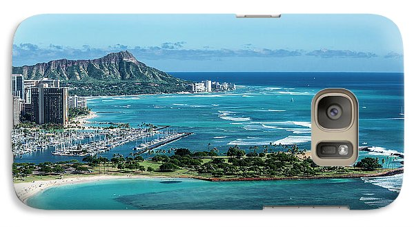 Helicopter Galaxy S7 Case - Magic Island To Diamond Head by Sean Davey