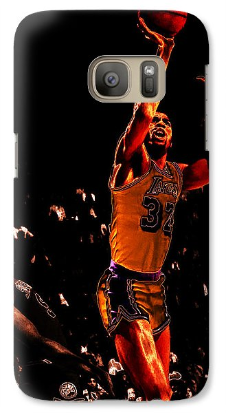 Magic Johnson Lean Back II Galaxy S7 Case by Brian Reaves