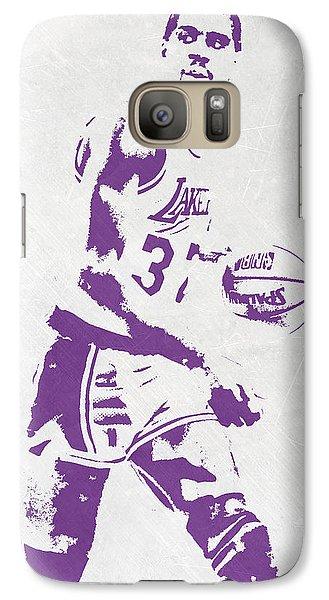Magic Johnson Los Angeles Lakers Pixel Art Galaxy S7 Case by Joe Hamilton