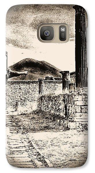 Galaxy Case featuring the photograph Magic Lantern Pompeii by Nigel Fletcher-Jones