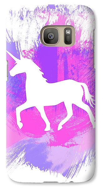 Magician Galaxy S7 Case - Magic Unicorn 1- Art By Linda Woods by Linda Woods