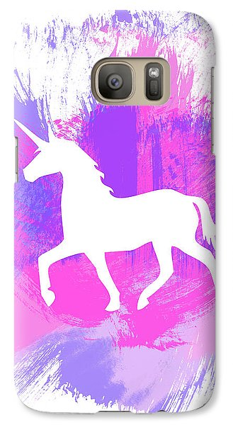 Magician Galaxy S7 Case - Magic Unicorn 1- Art By Linda Woods by Linda Woods