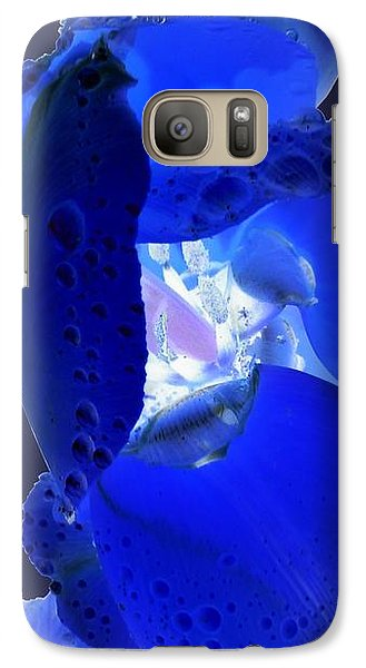 Galaxy S7 Case - Magical Flower I - Blue Velvet by Orphelia Aristal