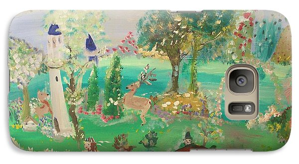 Galaxy Case featuring the painting Magical Garden by Judith Desrosiers