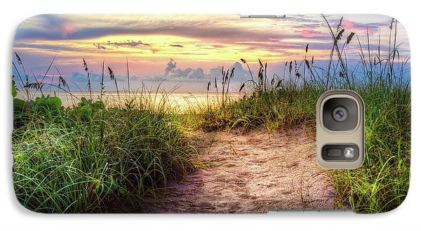 Galaxy Case featuring the photograph Magical Light In The Dunes by Debra and Dave Vanderlaan