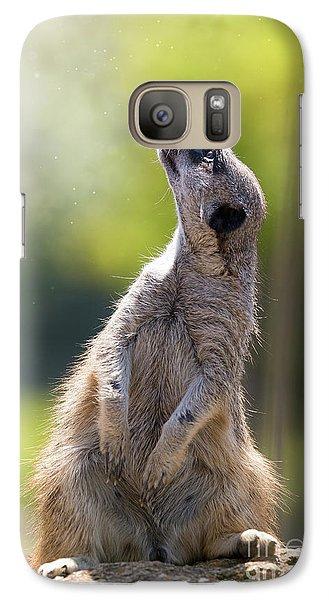 Meerkat Galaxy S7 Case - Magical Meerkat by Jane Rix