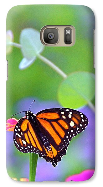 Galaxy Case featuring the photograph Magical Monarch by Byron Varvarigos