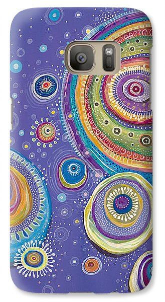Galaxy Case featuring the painting Magnetic by Tanielle Childers
