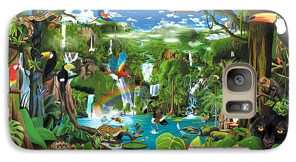 Toucan Galaxy S7 Case - Magnificent Rainforest by Gerald Newton
