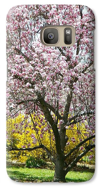 Galaxy Case featuring the photograph Magnolia Blossoms Galore by Emmy Marie Vickers