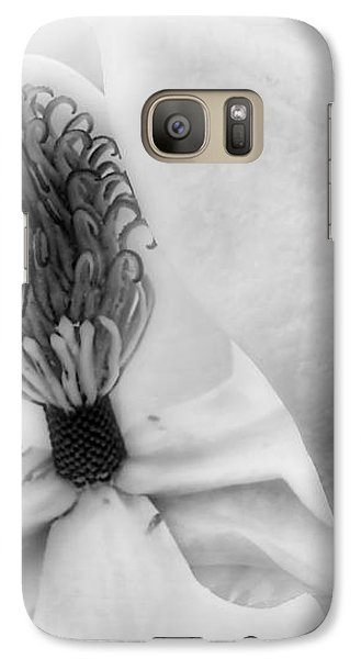 Galaxy Case featuring the photograph Magnolia Center Black And White Photography by Ann Powell