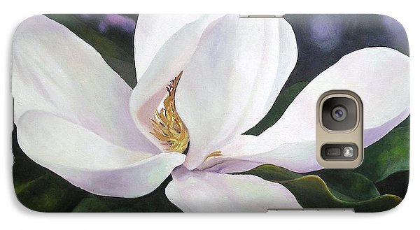 Galaxy Case featuring the painting Magnolia Flower by Chris Hobel