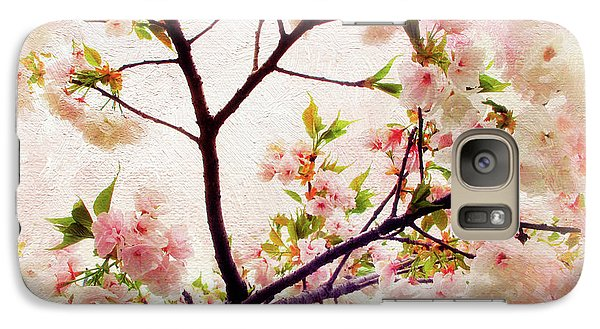 Galaxy Case featuring the photograph Asian Cherry Blossoms by Jessica Jenney