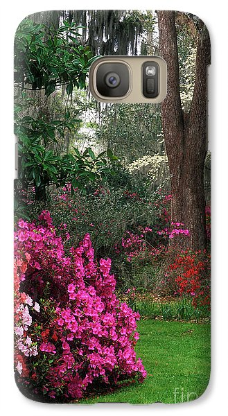 Galaxy Case featuring the photograph Magnolia Plantation - Fs000148a by Daniel Dempster