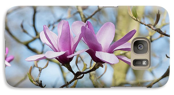 Galaxy Case featuring the photograph Magnolia Serene Flowers by Tim Gainey