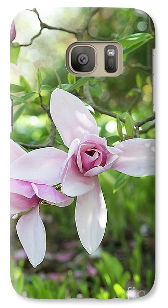 Galaxy Case featuring the photograph Magnolia Star Wars Flower by Tim Gainey