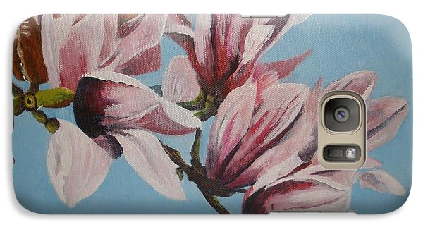 Galaxy Case featuring the painting Magnolia Tree Branch by Betty-Anne McDonald