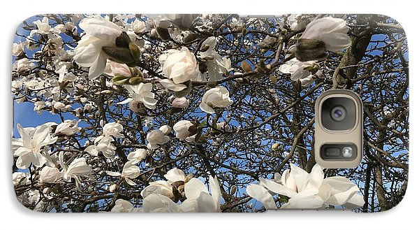 Galaxy Case featuring the photograph Magnolia Tree In Blossom by Patricia Hofmeester