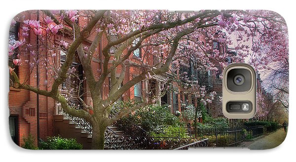 Galaxy Case featuring the photograph Magnolia Trees In Spring - Back Bay Boston by Joann Vitali