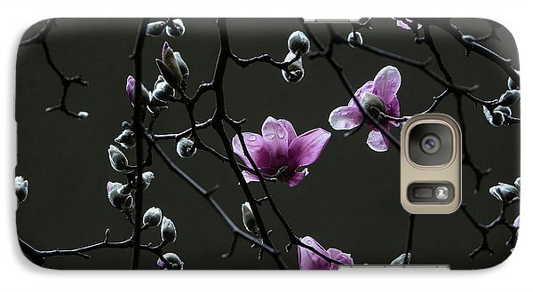 Galaxy Case featuring the photograph Magnolias In Rain by Rob Amend