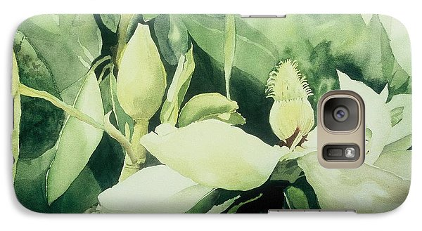 Galaxy Case featuring the painting Magnolium Opus by Elizabeth Carr