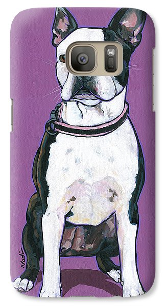 Galaxy Case featuring the painting Magpie by Nadi Spencer