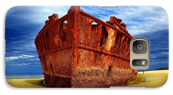 Galaxy Case featuring the photograph Maheno Shipwreck Fraser Island Queensland Australia by Gary Crockett