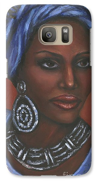 Galaxy Case featuring the painting Mahogany by Alga Washington