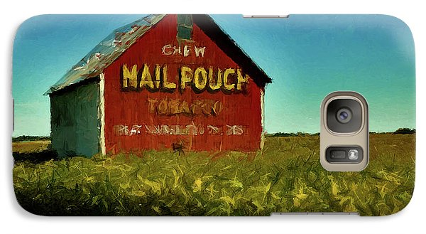 Galaxy Case featuring the painting Mail Pouch Barn P D P by David Dehner