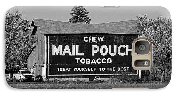 Galaxy Case featuring the photograph Mail Pouch Tobacco In Black And White by Michiale Schneider