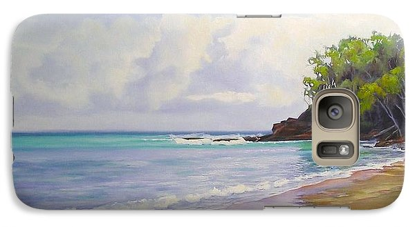 Galaxy Case featuring the painting Main Beach Noosa Heads Queensland Australia by Chris Hobel