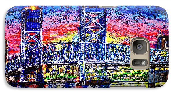Galaxy Case featuring the painting Main St. Bridge by Viktor Lazarev