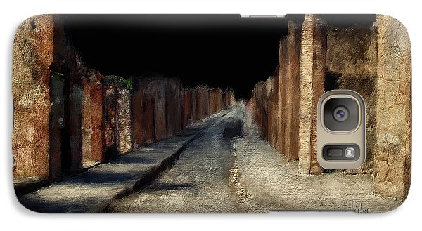Galaxy Case featuring the digital art Main Street, Pompeii by Lois Bryan