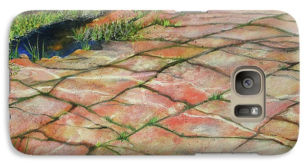 Galaxy Case featuring the painting Maine Coast Lines by Susan Herbst