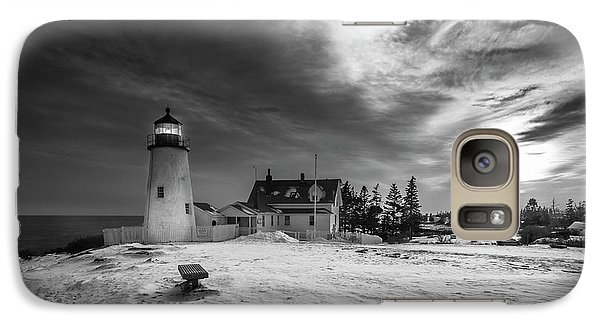 Galaxy Case featuring the photograph Maine Coastal Storm Over Pemaquid Lighthouse by Ranjay Mitra